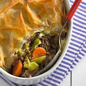 Vanavond eens een receptje van de Allerhande proberen.De filodeeg is nog over van de groente-kaas-baklava. Ik ben benieuwd!