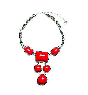 Sistaco-Firestorm. Sometimes an outfit, like a dish, could use a dash of Tabasco. This statement necklace adds a shot of spice to neutral looks; even a plain white blouse and khakis becomes a completely new look. You'll find yourself reaching for this chunky, bright red and silver necklace again and again. http://www.byariane.com.au/Sistaco-Firestorm