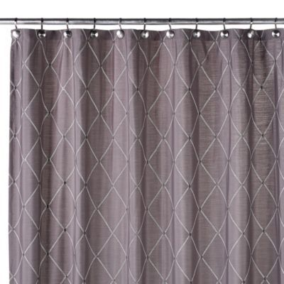 Wellington Shower Curtain In Grey Bathrooms Ideas
