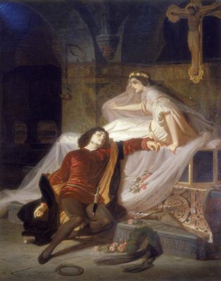 Romeo and Juliet by Piloty, Ferdinand II