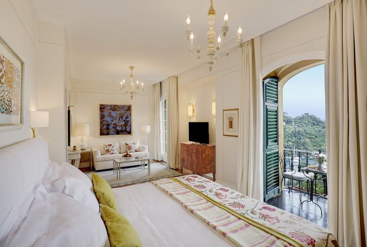 Wake up to incredible views of Portofino from Executive Junior Suite