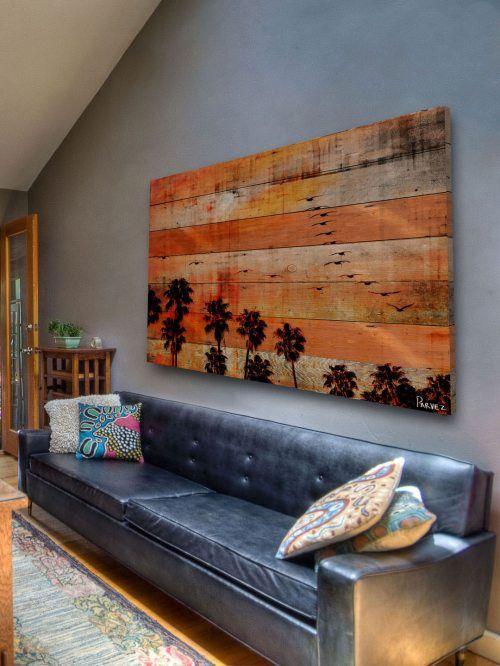 Proyecto que intentar esta es una asombrosa idea un cuadro con tarimas es fresco e inspirador. __these are cool! Inspiration! :)