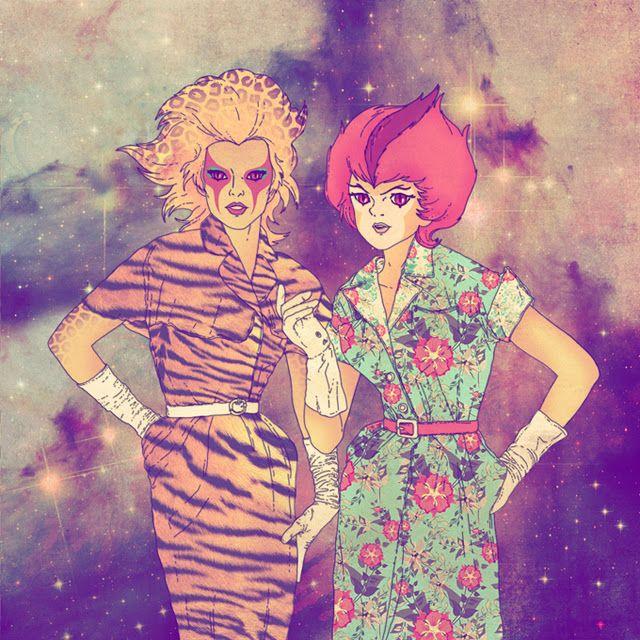illustration by fab ciraolo -   Cheetara & WilyKit
