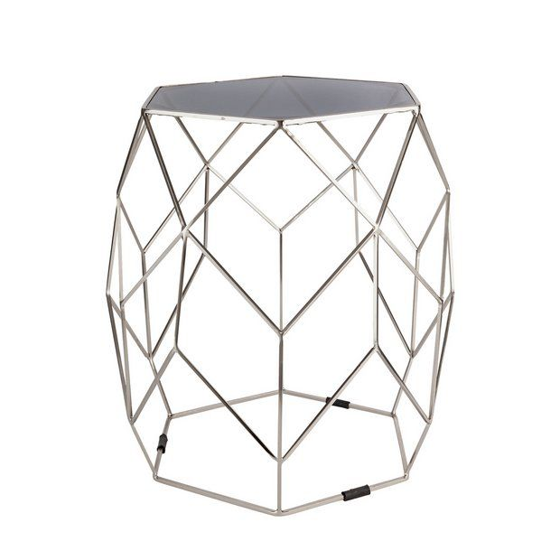 Buy Argos Home Palm Luxe Occasional Table Silver Side Tables