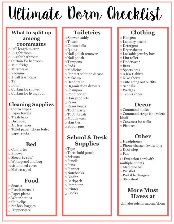Ultimate College Packing List What You Do And Don T Need By Lauren Lindmark On Daily Dose Of Charm Dorm Room List Dorm Checklist College Dorm Checklist