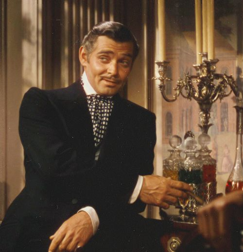"Rhett Butler in ""Gone With The Wind""..he never could master a southern accent, but he was great anyway."