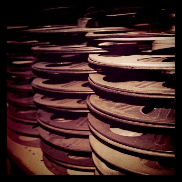 Film reels at The Astor, St Kilda, Australia