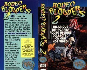 Rodeo Bloopers 2 - DVD by Rodeo Video. $5.95. This is the most popular series of rodeo videos on the market. Each one is packed with literally hundreds of clips of the most incredible and the most spectacular wrecks and crack-ups of rodeo. These videos have been imitated by others but never duplicated. Theyre the originals. More laughs and more bone crushers than any others. RODEO BLOOPERS 2 includes the famous interview of Shawn Frey by Bobby Delvecchio and Chuck Logue.