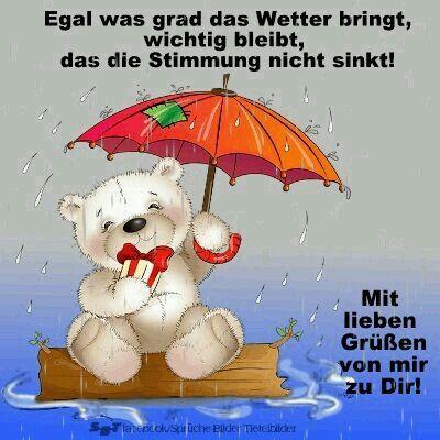 Guten Morgen Regenwetter