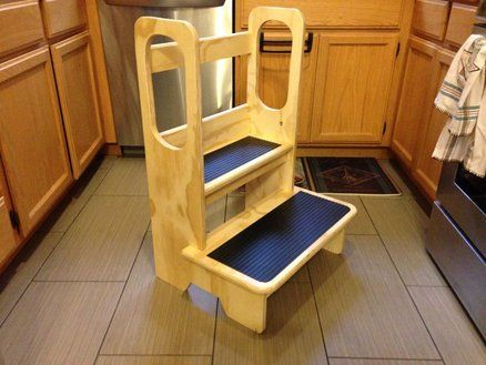 Kids Step Stool. These look great and are $200 to buy.  We will try to make one for grandchild