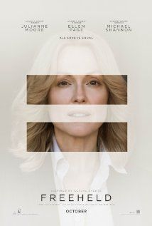 Freeheld - PG 13 - October 2, 2015  -     Director: Peter Sollett - Writer: Ron Nyswaner - Stars: Steve Carell, Ellen Page, Julianne Moore - New Jersey police lieutenant, Laurel Hester, and her registered domestic partner, Stacie Andree, both battle to secure Hester's pension benefits when she is diagnosed with terminal cancer. - BIOGRAPHY / DRAMA / ROMANCE