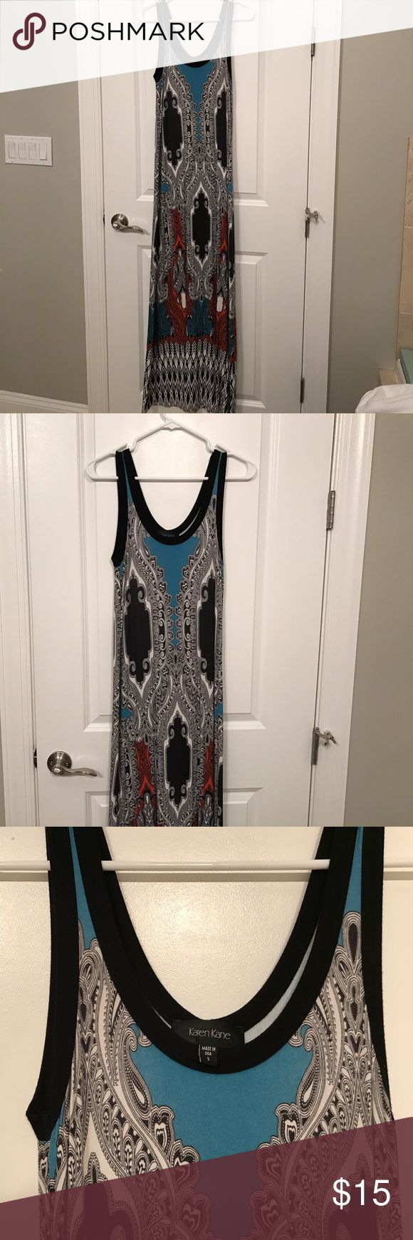 Karen Kane Maxi Dress Cotton Maxi dress, full of colors and designs that makes your shape look slimming!!  Size small.  Great for summer dates, BBQs or even a pool party!! Let me know if you'd like more pictures:) Karen Kane Dresses Maxi