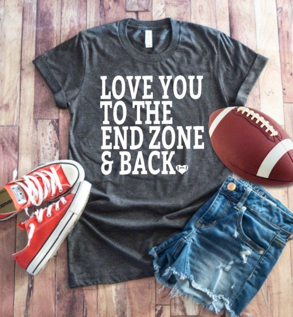 Love You To The Endzone and Back Shirt - Football Shirt ~ Football Mom Tee  ~ Football shirts ~ Football Mom Shirts ~ Grunge Football d63cc847d