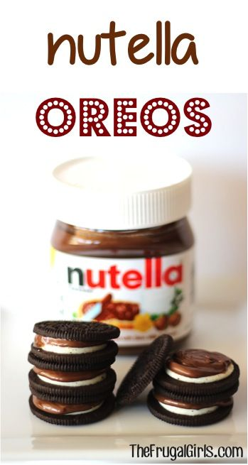 Nutella Oreos! ~ from TheFrugalGirls.com ~ if you love Nutella, you'll really love this tasty twist on Oreos! #cookies #nutella #thefrugalgirls