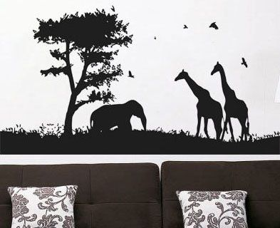 Best Room Images On Pinterest Vinyls Wall Decals And Art Decor - Wall decals animalsafrican savannah wall sticker decoration great trees with