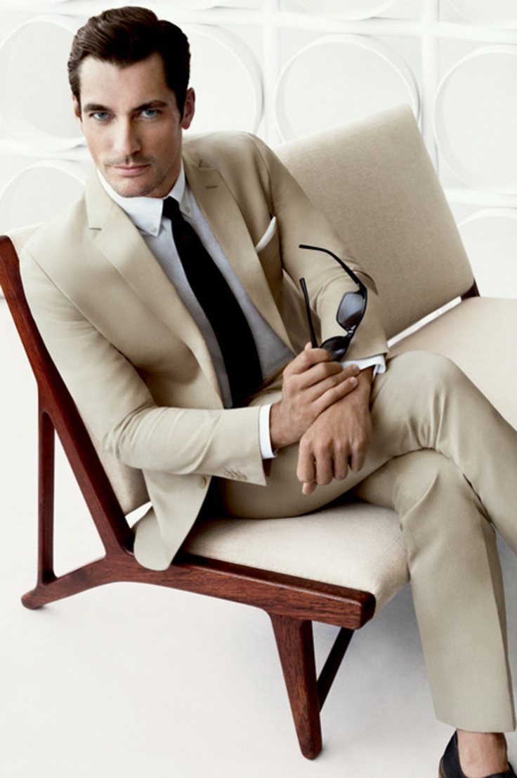 Cream suit..so sharp and definitely ideal for a spring or summer ...