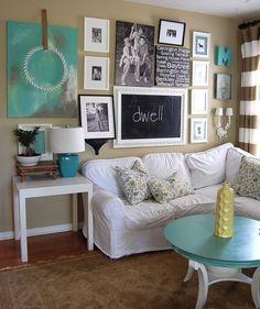 yellow aqua white room - Google Search