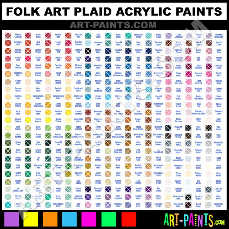 Folk Art Acrylic Paint Color Chart