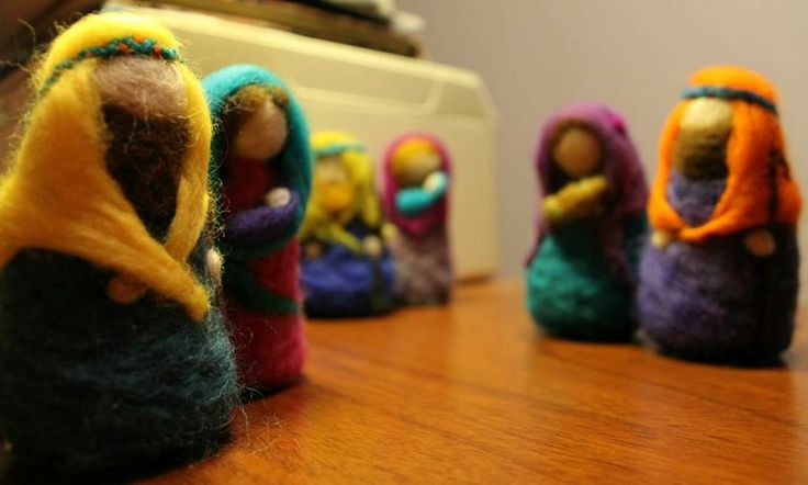 Ornament Christmas Needle felted Nativity