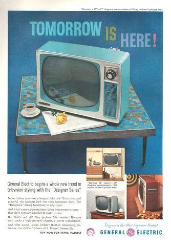 1958 General Electric portable TV television