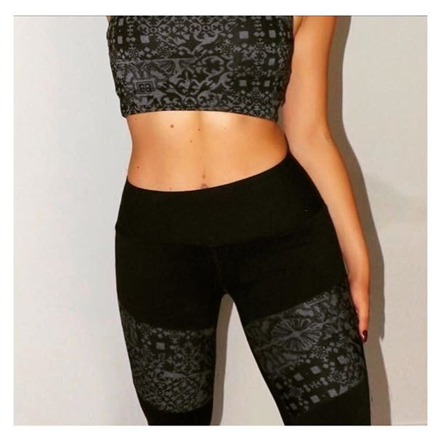 Matching yoga leggings and sports bra || Fit fashion, active living and gym style