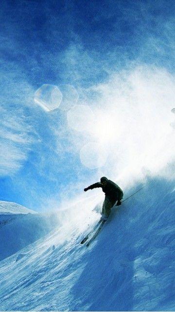 Downhill skier. #ski