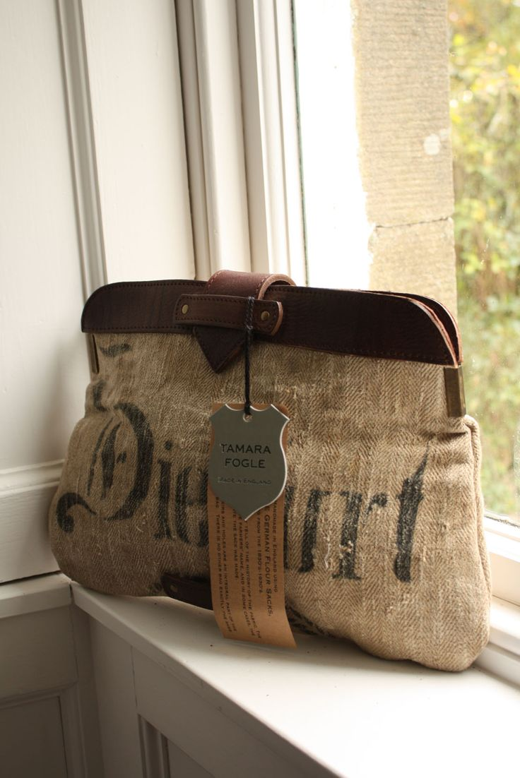 burlap and l e a t h e r-Tamara Fogle. I wish someone in Canada stocked her bags!