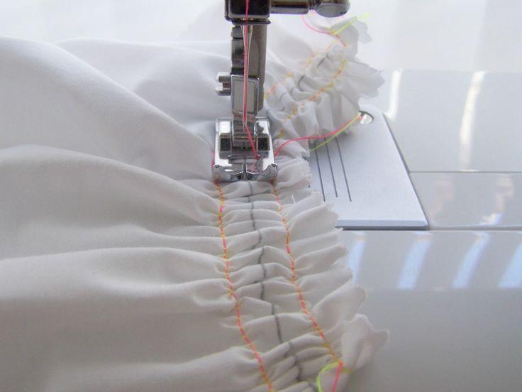 Paso a paso para fruncir a máquina. Técnica de costura que te permitirá rizar las faldas de los vestidos, volantes, etc.. sin mayor dificultad.