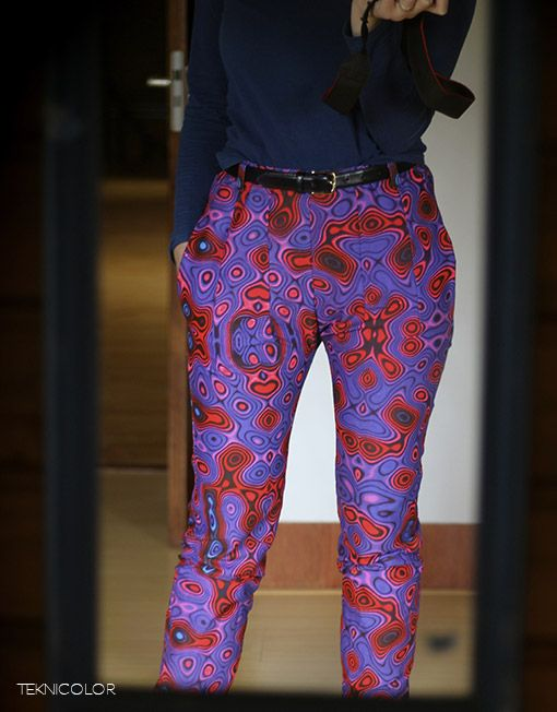 Made this one for myself, psychedelic tailor-made pants