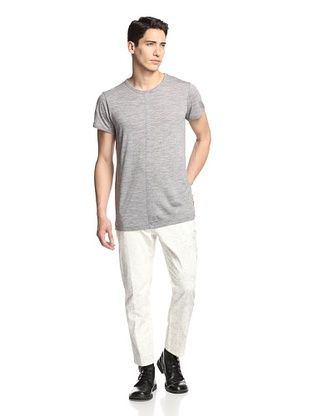 80% OFF Ann Demeulemeester Men's Heathered Tee (Melle Grey Chine)