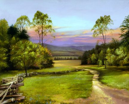 """The Narrow Way"" - Spencer Williams: God Speaking, Country Life, Scenery Pictures, Painting"