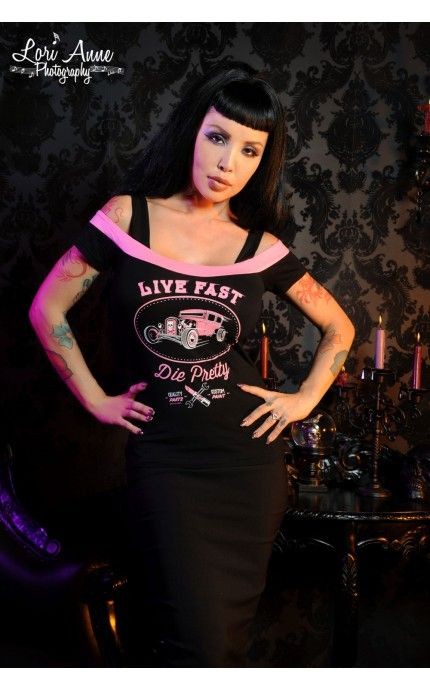 Live Fast Die Pretty Top | Pinup Girl Clothing