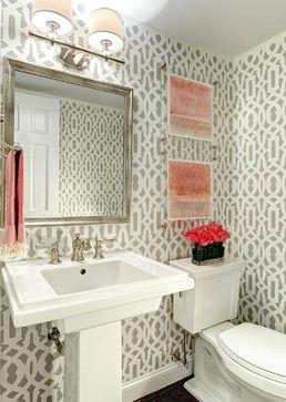 Stencil Traci Zeller Designs Powder Room Transitional