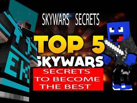 Top 5 SECRETS to win SKYWARS Minecraft BATTLE