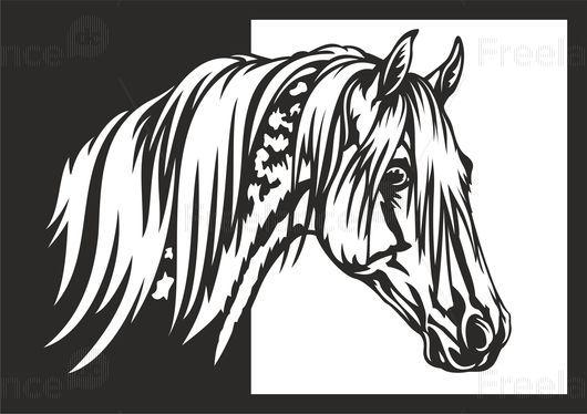 Portrait of a horse. Tattoo. Buy for $ 15. #tattoo #horse #graphic #design #freelancecreative #freelancediscount