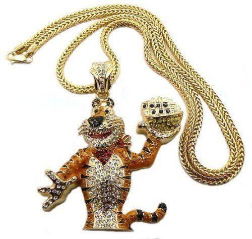 61 best be the tiger images on pinterest advertising big cats and gold iced out frosted flakes tony the tiger pendant with a 36 inch franco chain necklace mozeypictures Gallery