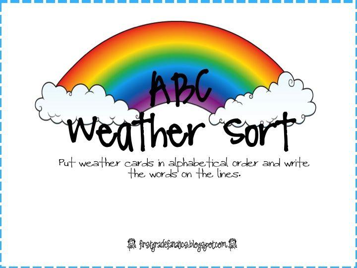 First Grade Fanatics: ABC Weather Sort