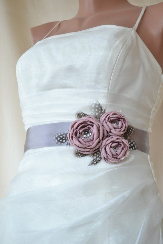 Bridal sash add vintage grandmother's jewelery