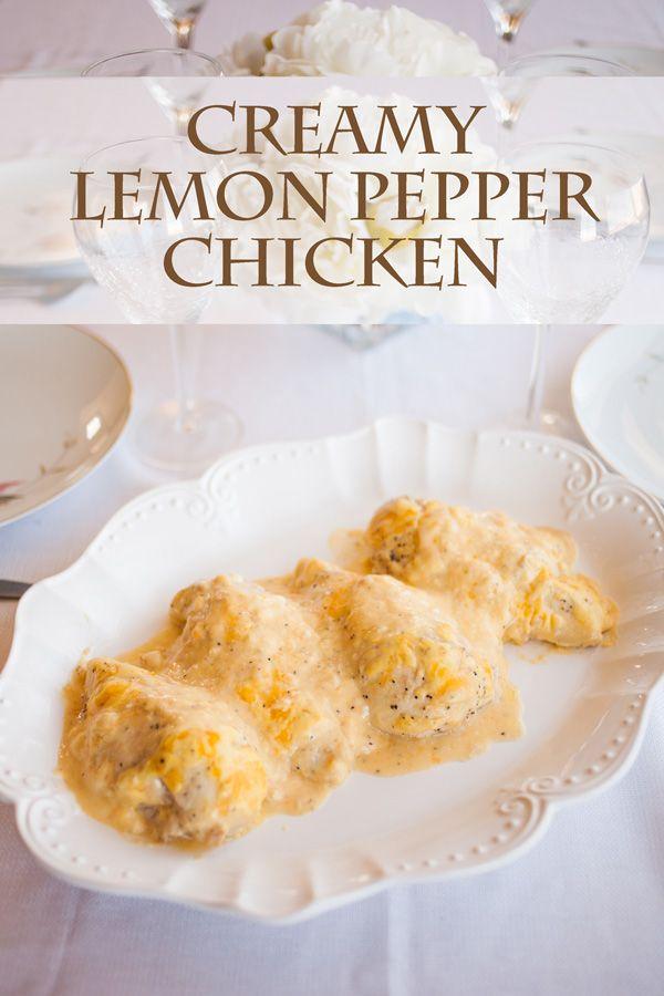 Creamy Lemon Pepper Chicken made with generous amounts of lemon pepper ...