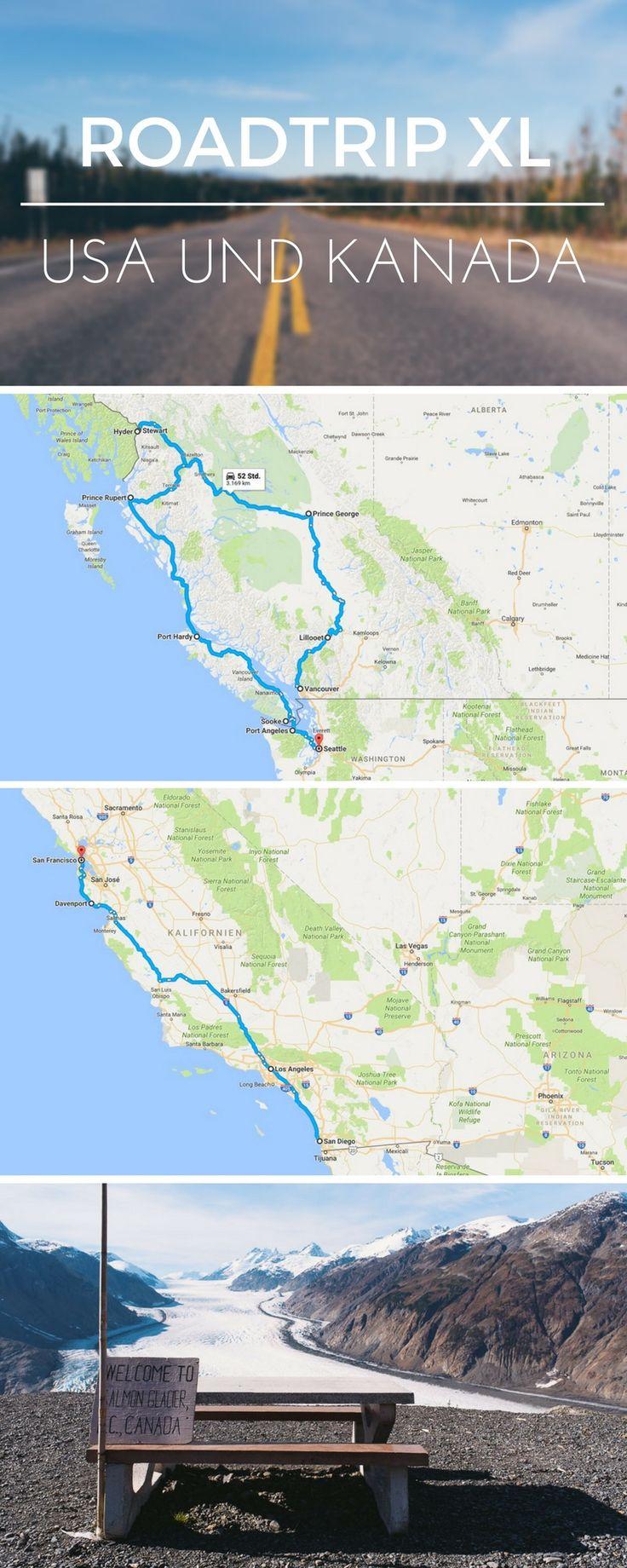 Roadtrip USA und Kanada - Tipps zur Planung eines Roadtrips in Nordamerika sowie Ideen zur Routenplanung.