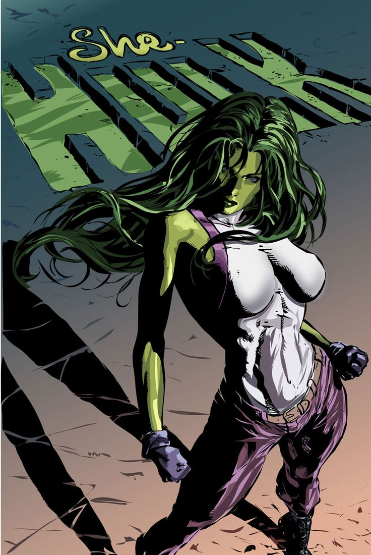 She Hulk...see Payton? Are you as happy as I am?!?!?!?!?!?!?!?!?!??! OMG this is the best thing ever.