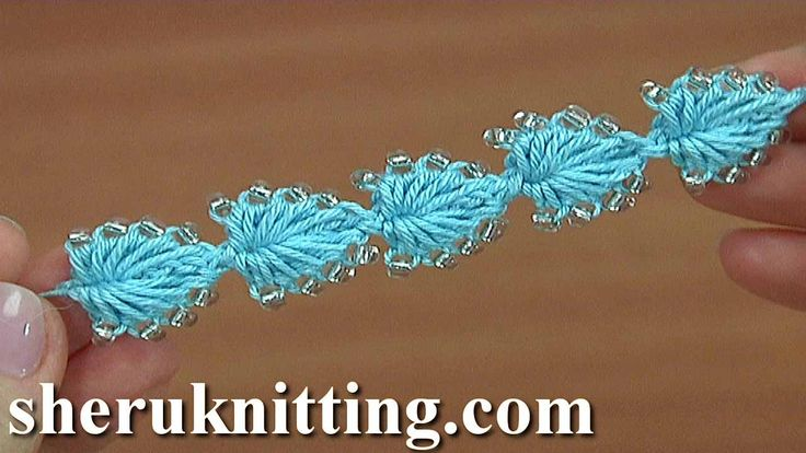 Easy to Crochet Heart String With Bead Tutorial 165