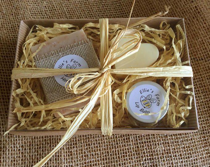 Handmade Soap Gift Set, Lip Balm Gift Set, Solid Lotion Bar Gift Set, Natural Cosmetic Gift Set, Natural Soap, Beeswax Lip Balm, Soap, UK