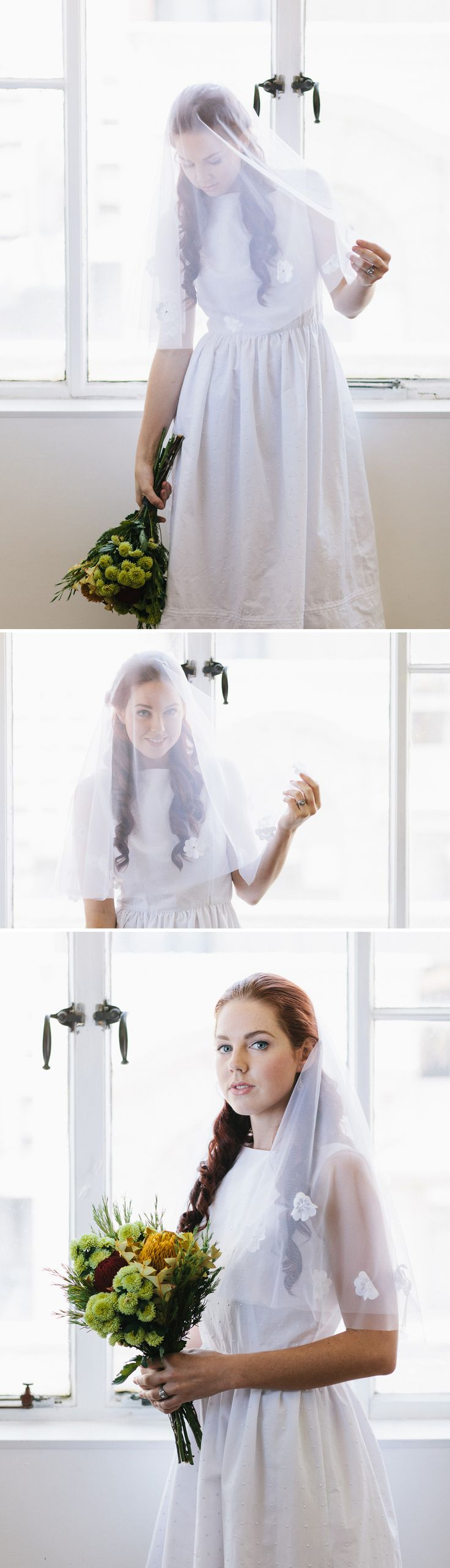 What about a white vintage veil for your wedding?