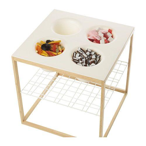 ikea ps 2012 side table has 4 bowls that can be used for anything from flower pots to serving. Black Bedroom Furniture Sets. Home Design Ideas