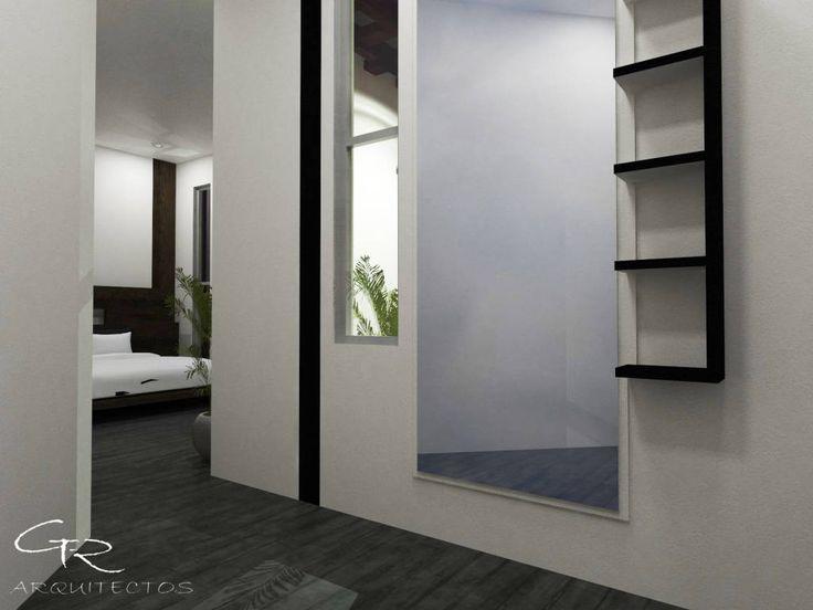 Busca imágenes de Vestidores y closets de estilo moderno en blanco: House Paraíso. Encuentra las mejores fotos para inspirarte y crea tu hogar perfecto.