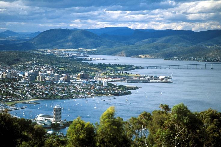 Hobart skyline. Photo: Tourism Australia. #Hobart #Tasmania #Australia #Travel