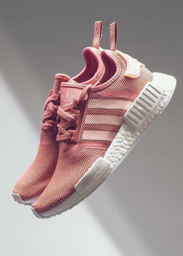 Women Adidas NMD Fashion Trending Pink/White Leisure Running Sports Shoes