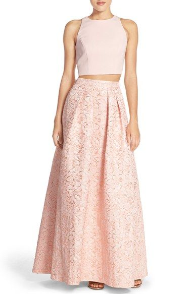 Aidan by Aidan Mattox Floral Jacquard Two-Piece Ballgown available at #Nordstrom
