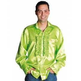Déguisement chemise disco fluo vert homme luxe (vert anis)